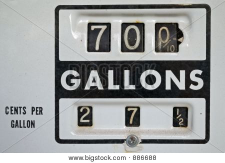 close-up of gasoline pump