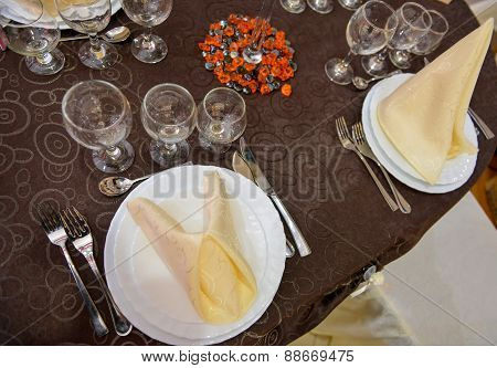 Beautifully Arranged Wedding Table