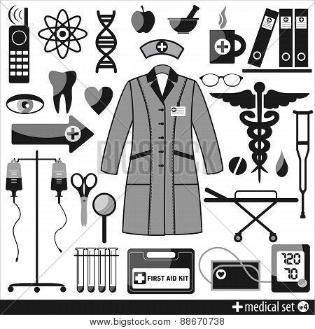 Medical icon. Design element.
