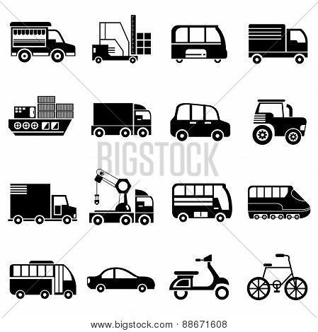 car icons, vehicle icons