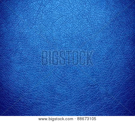 Bleu de France color leather texture background
