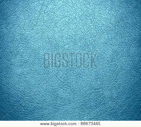 Blizzard blue color leather texture background