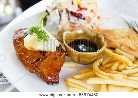 Chicken Steak With French Fried