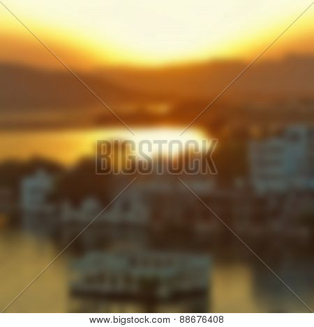 Blurred view of Udaipur