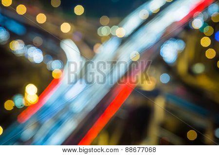 defocus view of city night.