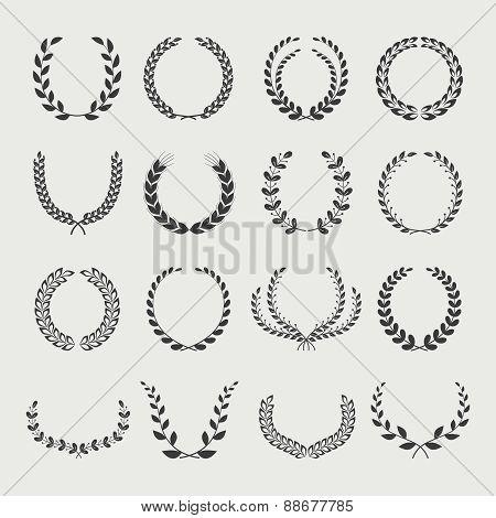Set of laurel wreaths.