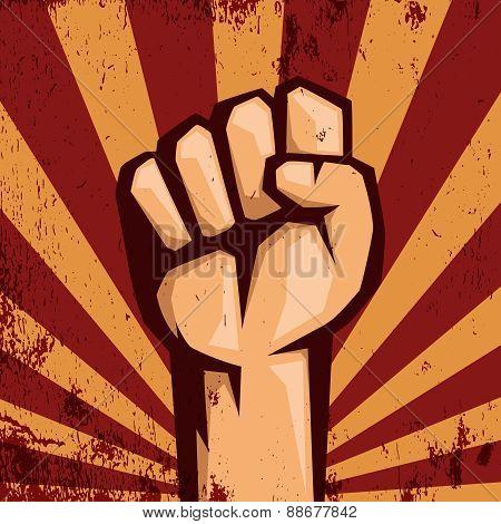 Protest logo.