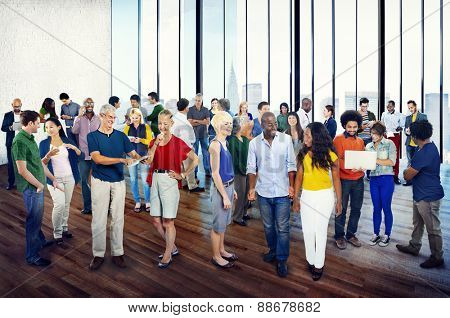 Group People Casual Community Diversity Talking Interaction Concept