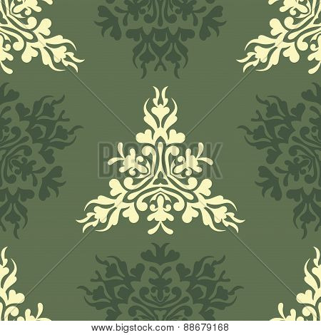 Vector olive royal spring seamless background
