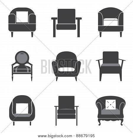 Sofa Icon Set.