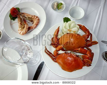 Fresh Shrimp and Crab