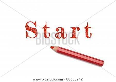 Start Sketch Red Pencil