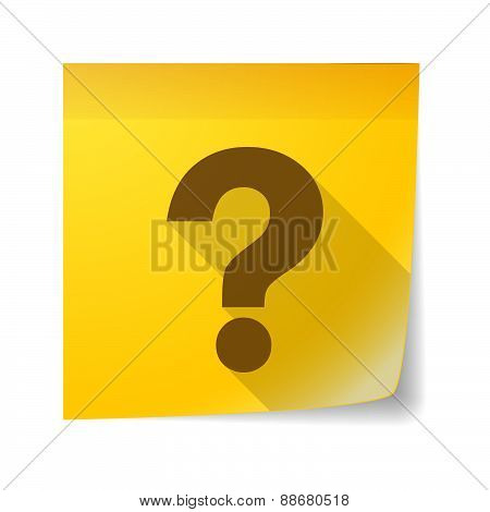 Sticky Note Icon With A Question Sign