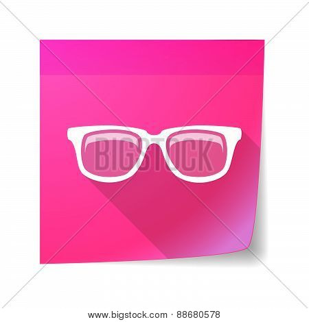 Sticky Note Icon With A Glasses