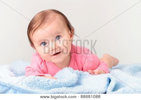 Adorable Smiling Baby Girl