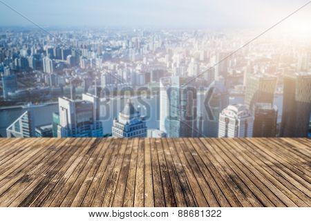 skyline, landscape in city china.