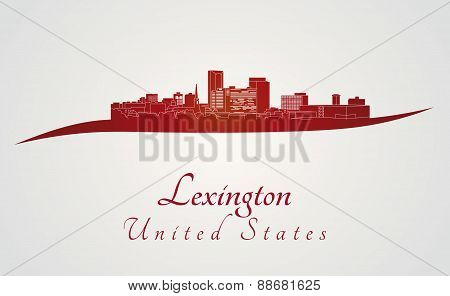 Lexington Skyline In Red