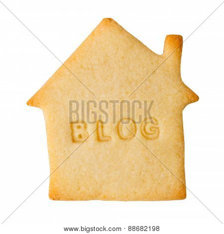 Cookie with BLOG sign