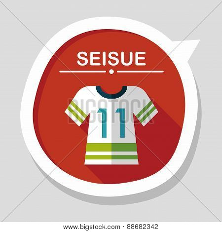 Sports Jerseys Flat Icon With Long Shadow,eps10