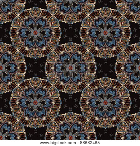 Ethnic tribal fashion abstract indian pattern