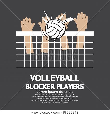 Volleyball Block Players Sports.