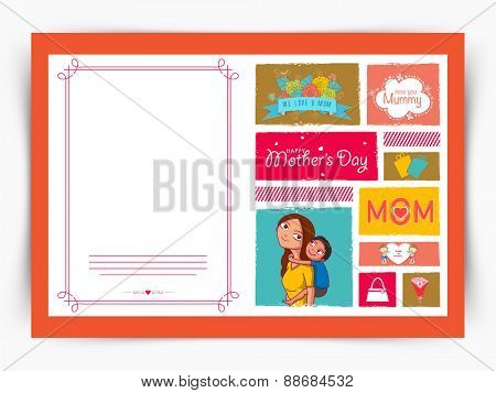 Creative greeting card design for Happy Mother's Day celebration.