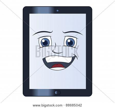 Smiling tablet computer