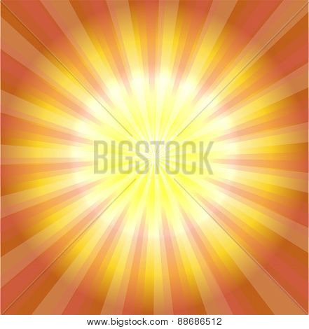 Abstract yellow laser light background vector