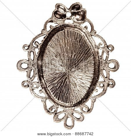 Reverse Side Of Silver Pendant