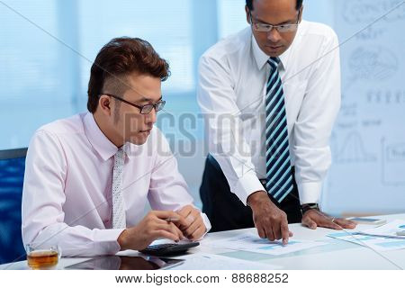 Showing business document