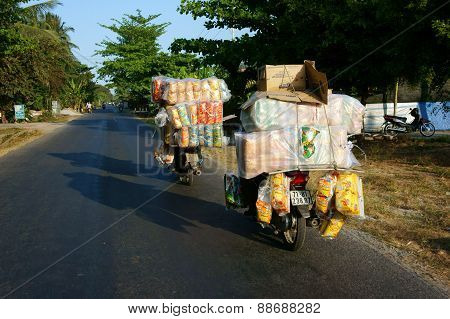 Asian Man, Transportation, Danger, Motorbike