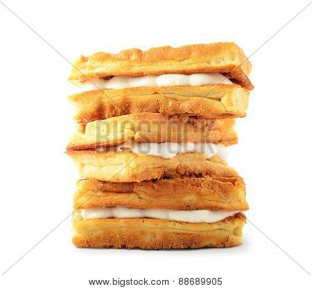 Stack Of Sweet Viennese Wafers