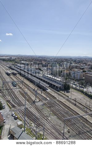 Aerial View Of The Train Station