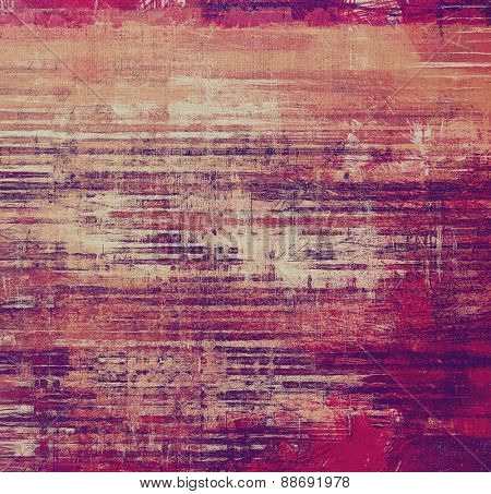 Colorful designed grunge background. With different color patterns: brown; purple (violet); red (orange); pink