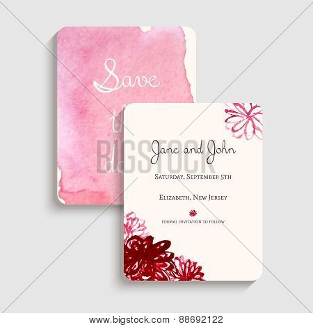 Bridal shower invitation card. Vector illustration.