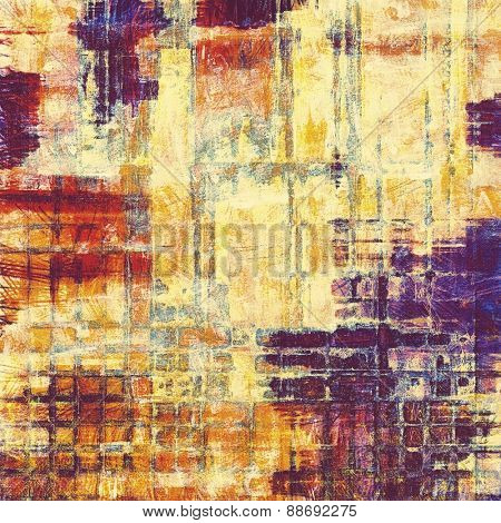 Colorful vintage texture. With different color patterns: yellow (beige); purple (violet); blue; red (orange)