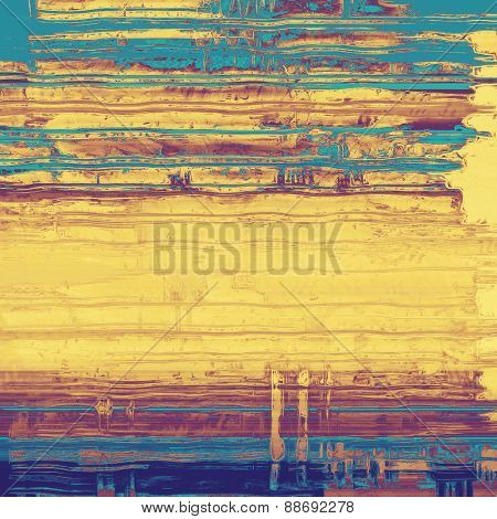 Old texture - ancient background with space for text. With different color patterns: yellow (beige); brown; purple (violet); blue