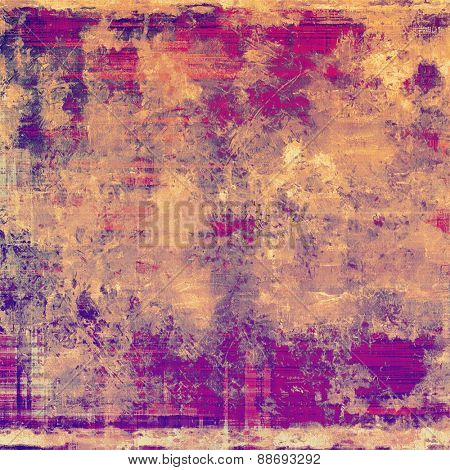 Beautiful vintage background. With different color patterns: yellow (beige); brown; purple (violet); pink