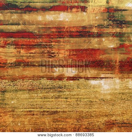 Rough grunge texture. With different color patterns: yellow (beige); brown; green; red (orange)