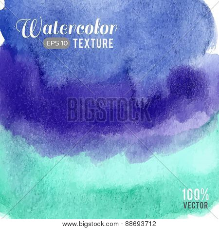 Blue turquoise watercolor texture