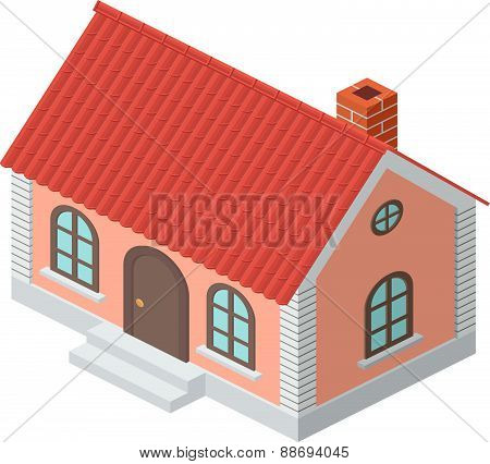 Cottage With A Tiled Roof