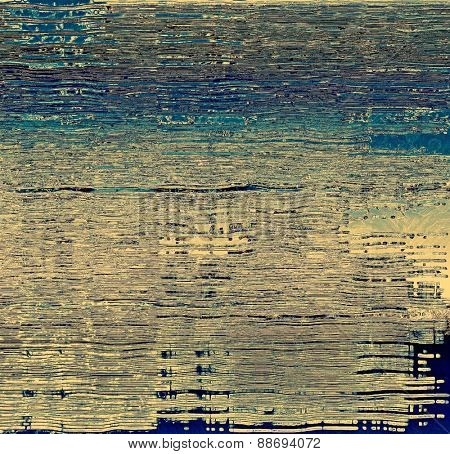 Old Texture or Background. With different color patterns: yellow (beige); gray; blue; cyan