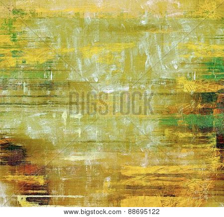 Old background or texture. With different color patterns: yellow (beige); brown; green