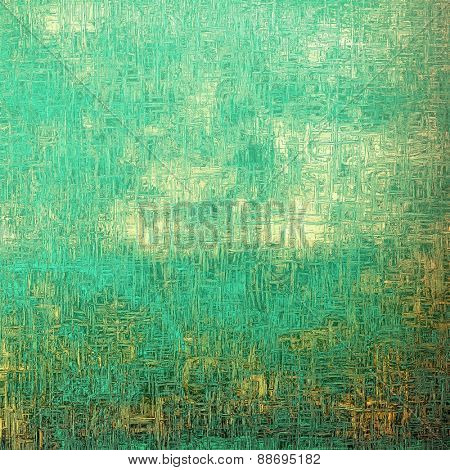 Retro background with grunge texture. With different color patterns: yellow (beige); blue; cyan; green