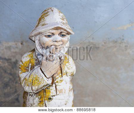 Antique Garden Gnome