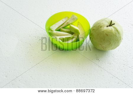 Guava Fruit Chopped Chop Plant Vitamin C Concept