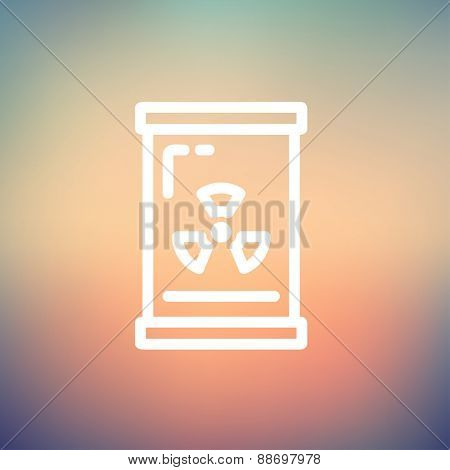 Glass with propeller icon thin line for web and mobile, modern minimalistic flat design. Vector white icon on gradient mesh background.