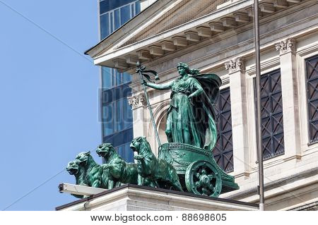 Quadriga Statue In Frankfurt, Germany