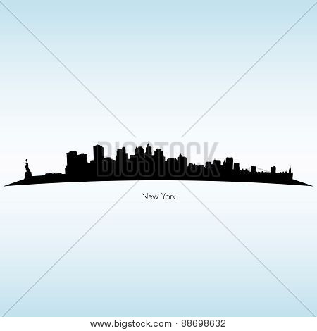 New York Silhouette Skyline
