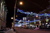 picture of prospectus  - The city decorated with light garlands by New year - JPG